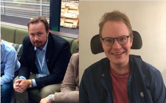 FRITT BRUKERVALG: Geir Jostein Ørsjødal (H) og BPA-bruker Sondre Rønning mener Inderøy kommune må opplyse BPA-brukere om rettighetene de har til å bruke private tjenesteytere.