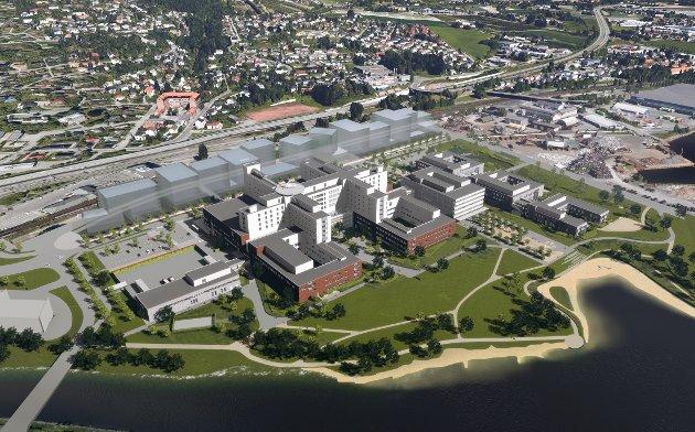 I GANG: Den 14. oktober startet gravearbeidet med det som skal bli Norges nye sykehus, i Drammen.