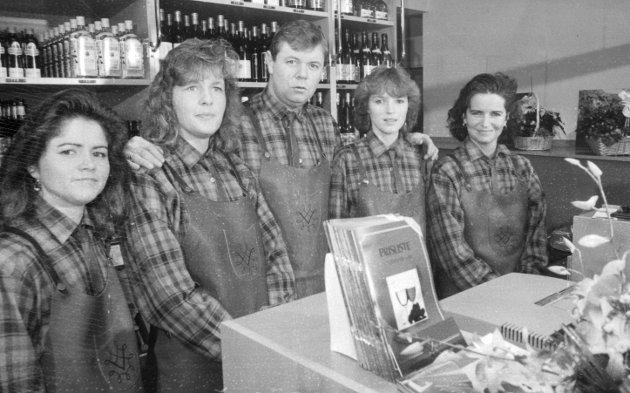 Vinmonopolet: Opning av Vinmonopoleti Odda, desember 1988.
