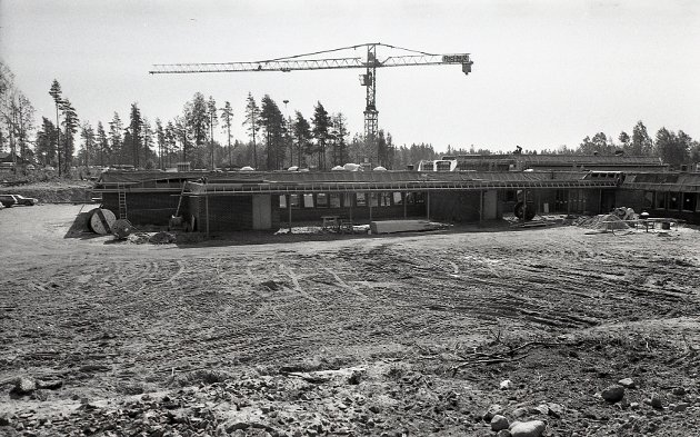 Her bygges Øreåsen skole, mai 1978.