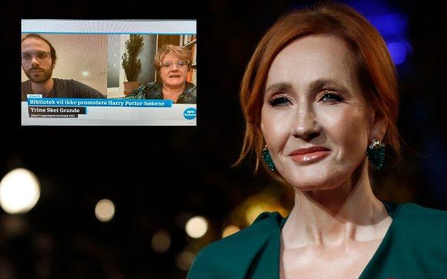 ULIKE SYN: Flere bibliotekansatte i Norge sier de ikke vil legge til rette for formidling av J.K. Rowlings bøker på grunn av hennes ytringer om transpersoner og kjønn.  Saken ble diskutert på Dagsnytt 18 torsdag (innfelt), der det ble hevdet at Rowling setter transpersoner «i fare».