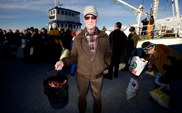 Reidar Klingenberg (81) har berget festmiddagen.