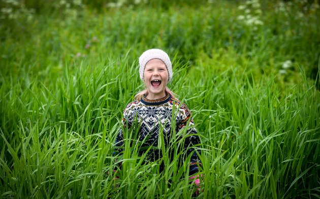 Leah Madelen Solvoll (7) synes det er artig å være med på sommerskole.