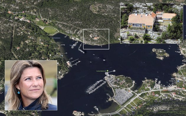 70 MILLIONER SKATTEFRITT: Prinsesse Märtha Louise kan tjene 70 millioner kroner på å selge Bloksberg (innfelt) på Hankø.