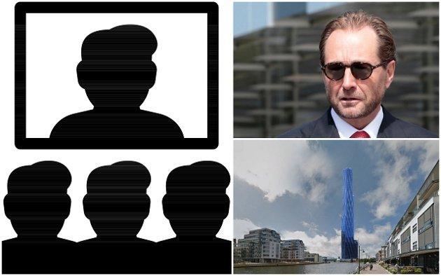 Trøbbel i tårnet: Det gikk i ball med kommunens videokonferanse, og det er fortsatt helt i det blå om Kjell Inge Røkke velger seg Fredrikstad når gigantårnet skal reises.