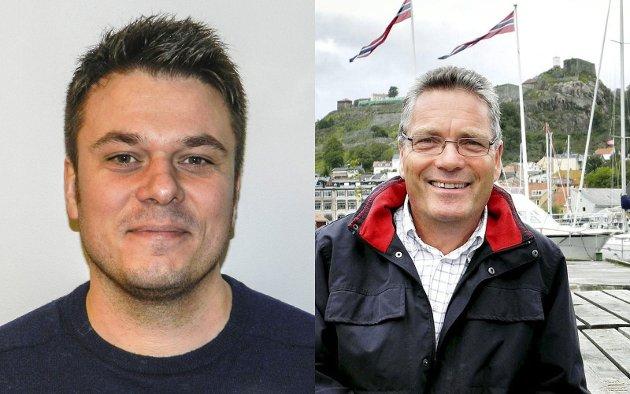 Helge Bergseth Bangsmoen (t.v.) skriver om ordfører Thor Edquist (t.h.)