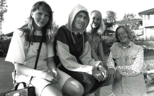 Åvangen 1993:Fra v.: Kari Mette Iversen, Tor-Magne Bruun, Heidi M. Johannessen og Vibeke Hågensen.
