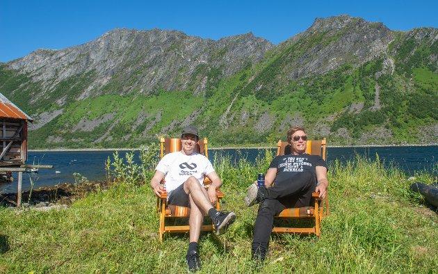 LEIRVAAG MUSIKKFEST: Paul Daniel og Marius Kromvoll i duoen Quarter Wolf.