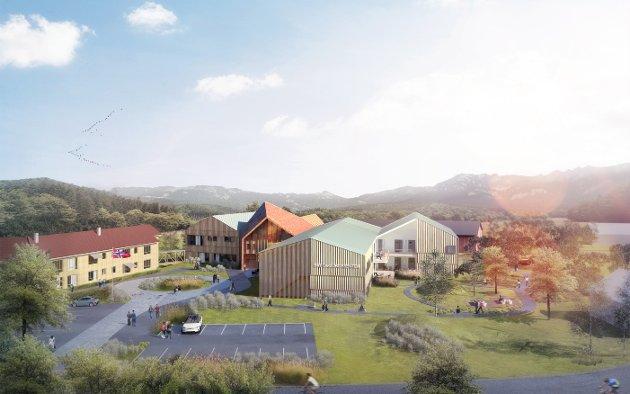 BIRI STORSTUGGU: Slikk skal det nye omsorgsenteret i Biri bli. Prosjektet kalles Biri storstuggu og skal stå ferdig i 2020.