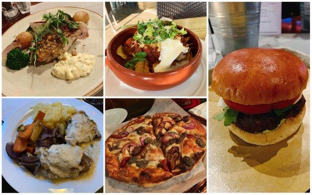 100 KRONER: Spiseforeningen spist seg gjennom hundrekroners-retter hos Kafka, Hotel Atlantic, Kokeriet, Peppes Pizza, Groovy Diner og Pir 4.