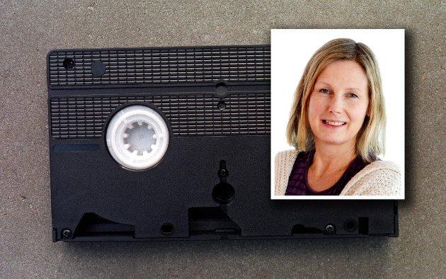 NY OPPFINNELSE: Det skulle være sånn at man kunne ta opp programmer og filmer på TV, som man da kunne lagre og se på nytt – akkurat som man tok opp musikk på kassettspiller!!!