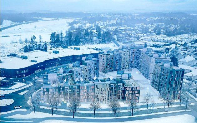 Gartnerikvartalet er det største enkeltstående boligprosjektet i sentrumsplanen for Vestby.