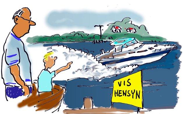 En leser oppfordrer til å vise hensyn til andre på sjøen.