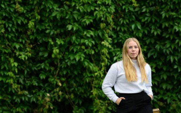 FLYTTER HJEMMEFRA: Amalie Andersen er student fra Re i England og spaltist i Tønsbergs Blad