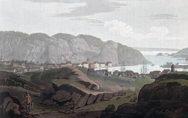 Slik ble Urheia oppfattet I år 1800 avEdy ogFearnside, sett fra Viddefjell.