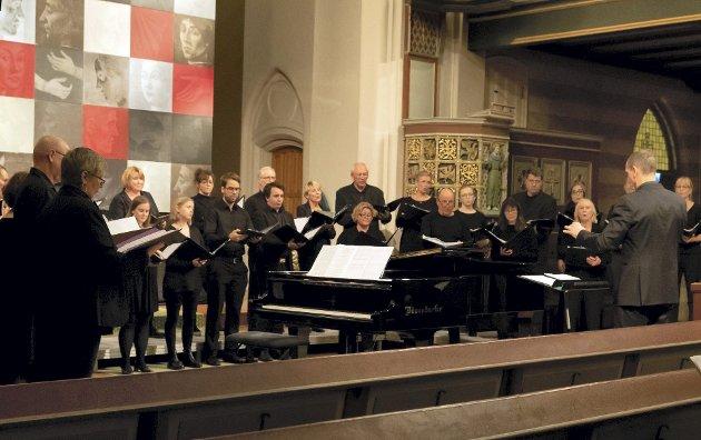 Hovland, Madsen og Ihlebæk: Borg Domkor fremførte torsdag verker av våre lokale komponister i Domkirken.