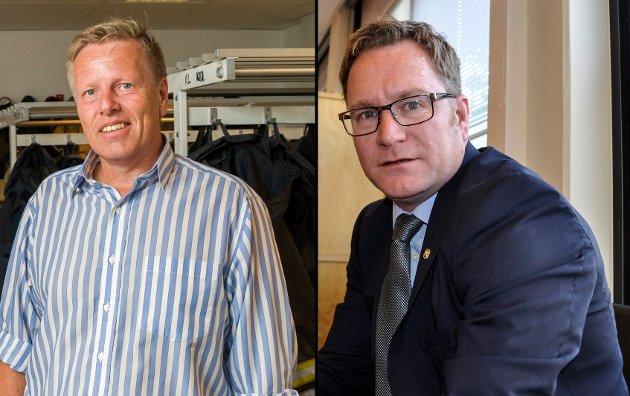 EKS-ORDFØRERE: En åpen saklig debatt om fornying av Horten bør alle hilse velkommen, mener Finn-Øyvind Langfjell og Børre Jacobsen. Begge har sittet som ordførere for Høyre i Horten.