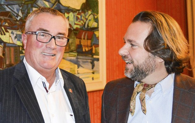 FOSSER FRAM: Per Egil Evensen (gruppeleder) og Henrik Rød (partileder) kan glede seg over en god meningsmåling.Arkivbilde.