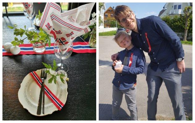 Hvordan feirer du og dine 17. mai i år? På bildet til høyre er Sande Avis-redaktør Magnus Franer-Erlingsen med bonussønn Teodor på nasjonaldagen for et par år siden.
