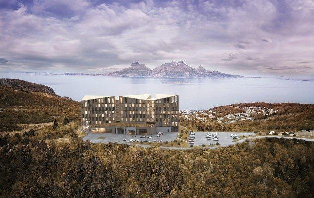 Omdiskutert: Det har vært mye diskusjon rundt hotellet på Rønvikfjellet.Foto: Nordic – Office of Architecture