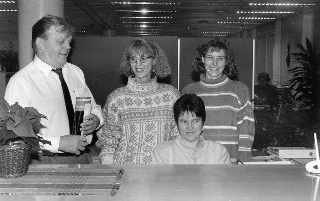 Norvald Nydal, Solveig Myhre, Kristin Teigene, Ingrid Kassen. Januar 1993