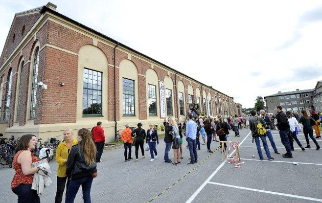 Kunstklyngen: Hydrogenfabrikken er møteplassen der kulturaktører møtes for sammen å bli bedre. Bildet er fra en utstilling.Arkivfoto: Trond Thorvaldsen