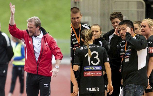 BORTE: Morten Holmen (til høyre) og Glenn Ståhl har begge opplevd opp- og nedturer i Halden. På ulike måter. Fotomontasje: Tom R. Andreassen og Hans Petter Wille