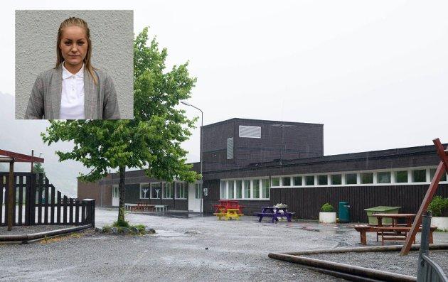 Inga Øygard Jaastad svarer arbeidsgruppa for Vestsida skule.