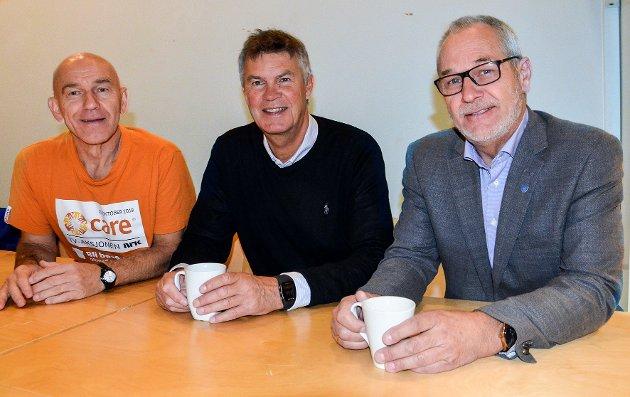 NY KONSTELLASJON: Olav Nordheim (Sp), Erik Bringedal (H) og Rune Høiseth (Ap) har funnet hverandre. Det imponerer ikke Erik Ness.