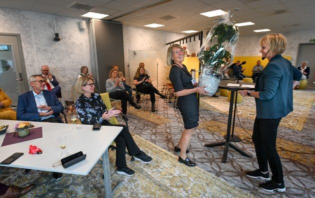 NAV økonomi og stønad samt NAV dokumentsenter offisielt åpnet med Silja Ildgruben og ordfører Geir Waage og flere andre gjester fra NAV m.fl.