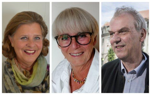 TREKKER FRAM DET POSITIVE: Unni Carlsen, Lise Bye Jøntvedt og Runar Johansen i Ringerike Høyre.