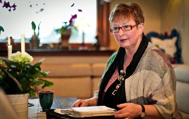 Inger Marit Sverresen, leder i Partiet De Kristne i Sarpsborg. (Foto: Thomas Andersen)