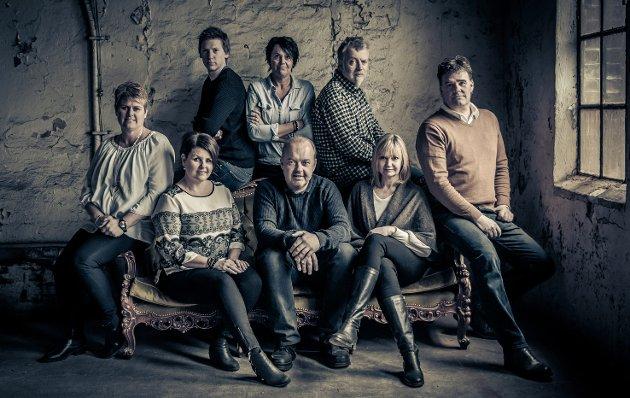HELE BP-GJENGEN: Torunn Bratvold (foran f.v.), Nina Sandsbråten, Knut Bråthen, Boel Kristin Støvern og Stig Odenrud. Eirik Gullord (bak f.v.), Merete Risan og Thormod R. Hansen.