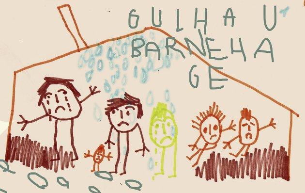 Få blide ansikter å se: På Gullhaug er det lite smil å se over budsjettdokumentene. Gullhaug ser ut til å komme dårligst ut av alle. Illustrasjon: Marianne Karlsen