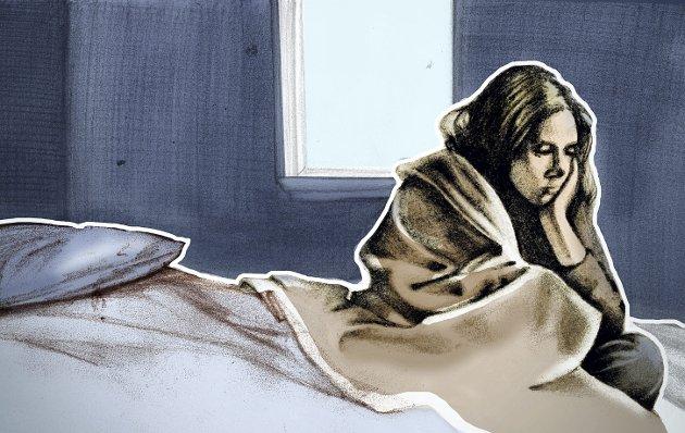 Ufrivillig innestengt og ung: Noen fordyper seg i problemene slik at det blir psykiske vansker og traumer.   Illustrasjon: Marianne Karlsen