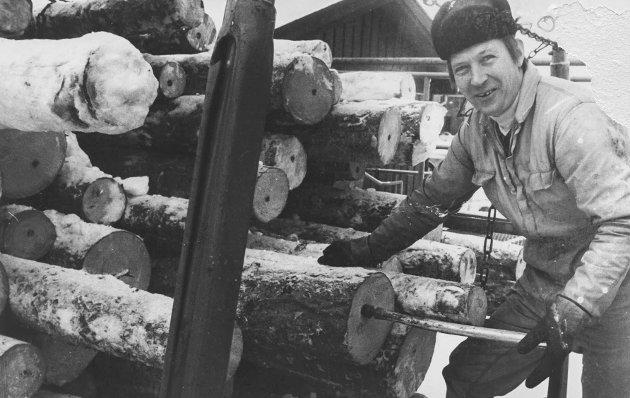 Fra tiden da Borg Trelast (nå Moelven Are brug) håndterte tømmer.