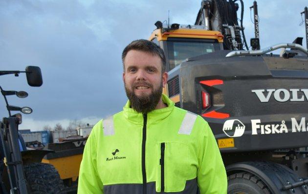 REAGERER: Daglig leder i Fiskå Maskin AS, Jan Gaute Krogevoll, reagerer på hvordan en artikkel om bedriften ble vinklet i Strandbuen.
