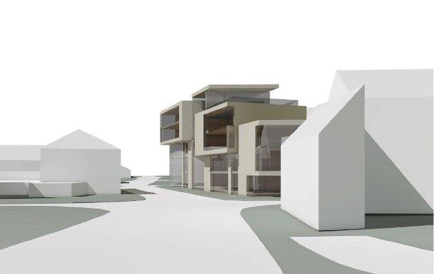 KRASS: Dette er noe av det mest klønete og uskjønne byggeprosjekt jeg har sett, skriver Paul Grøtvedt om skissen til nybygg i Nedre Langgate 19.