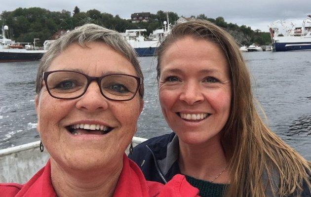 VISER TIL FLORØ: I Florø har ein gode resultat med tiltak som hindrar fråfall i vidaregåande skule, og KrF Vestland vil satse meir ressursar på slike prosjekt, seier Kristina og Trude Brosvik