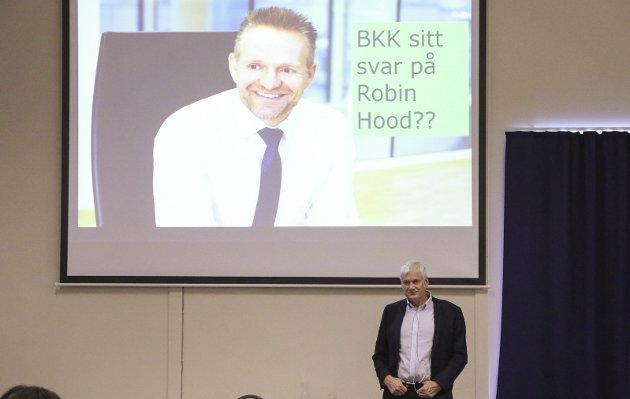 STRESS I SHERWOODSKOGEN: Jan Erik Kjerpeseth (BKK) og Johannes Rauboti (SFE) kjempar om posisjonar i energibransjen.