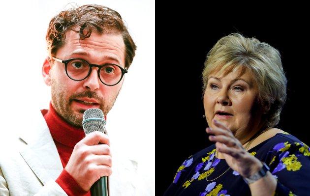 KRITISK: Forfatter og haldenser Demian Vitanza kommer med kritikk mot norske medier og Norges statsminister Erna Solberg.