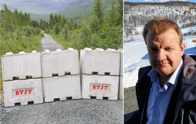 Aksjonistene har ikke begått hærverk mot Hilmarsens mur. Aksjonistene har fjernet en ulovlig oppsatt hindring på en offentlig tursti, for at allmenheten fortsatt skal kunne ferdes i Tromsdalen. Det er Hilmarsen (bildet) som har begått hærverk på turstien, skriver Ulf E. Hansen.