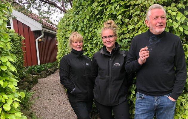 Tre blad Lundberg: Mamma Reidun, datteren Teresa og pappa Karl Fredrik.