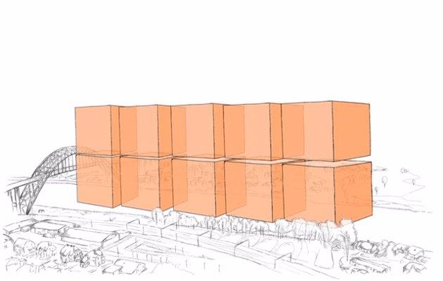 Henning Aall forklarer volumet på planlagt muddermengde: Ti kolosser som hver er på 100 x 60 meter (som en fotballbane) og 64 meter høye (som buen på Fredrikstadbrua.