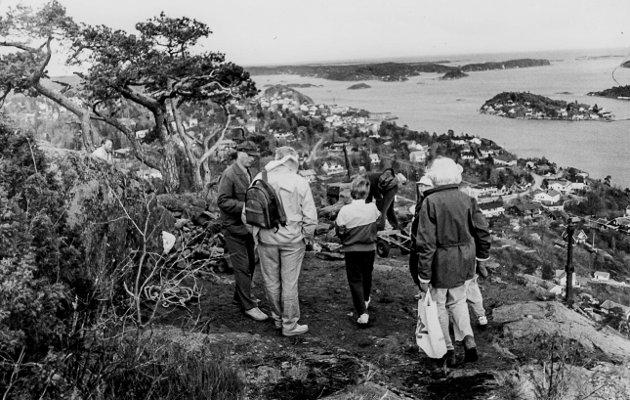 I 1992 sto Storkollen i fokus. Dette gamle utsiktsplatået var ganske så forfallent. Kragerø og Oppland Turistforening og Kragerø og Skåtøy Historielag tok initiativ til å få noe gjort. Ragnar Knutsen, som var en dyktig grovsteinsmurer, ble satt til  å gjøre jobben. Folk strømmet til for å hjelpe..