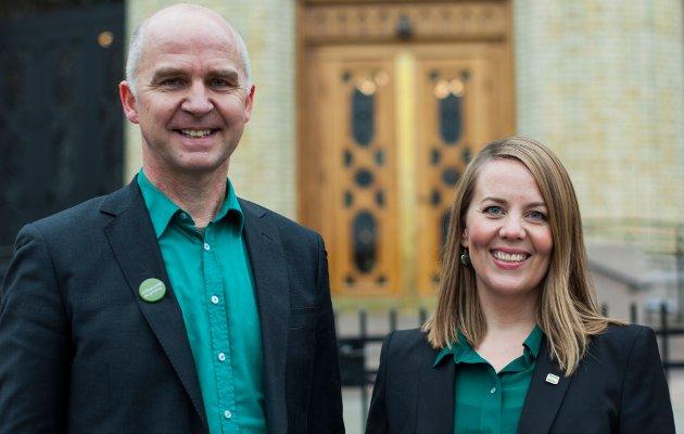 Kristin Antun er gruppeleder på fylkestinget i Viken, mens Øyvind Solum er nestleder i komite for finans, administrasjon og klima, begge for Miljøpartiet De Grønne