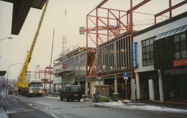 Lillestrøm Torv under bygging i 1997