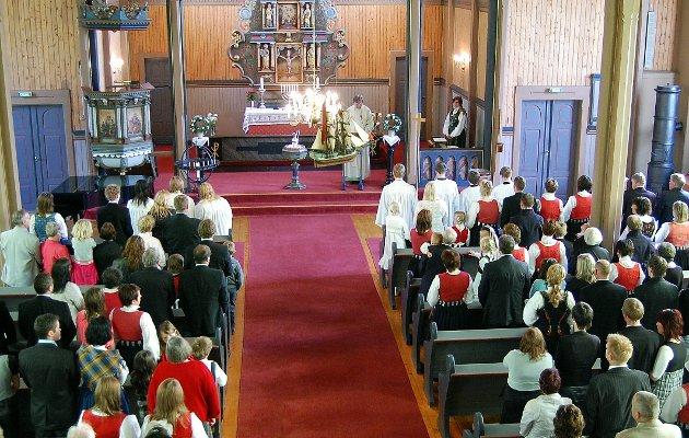 ILLUSTRASJONSFOTO Konfirmasjonsgudsteneste Stangvik kyrkje