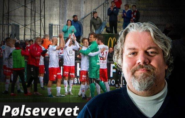 Erik Johansen trodde en periode at Svampebob hadde rotet seg inn i FFK-forsvaret, så mykt og behagelig var det for Florø-spissen.