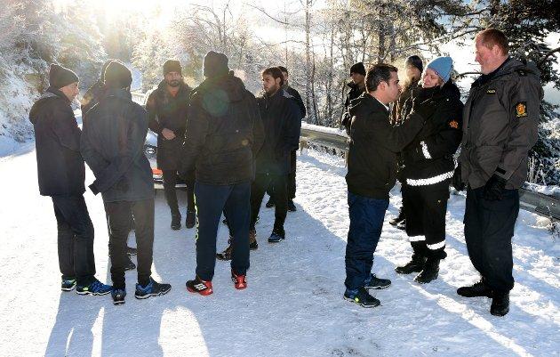 41 flyktninger demonstrerte fredag mot forholdene på akuttmottaket på Rondane høgfjellshotell